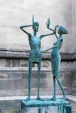 högskolan magdalen den oxford statyn royaltyfri foto