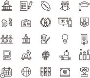 Högskolasymboler och symboler Royaltyfria Bilder