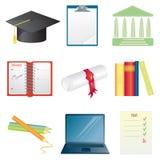 högskolasymbolsset Arkivfoton