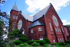 Högskolauniversitetsområde för Mt som Holyoke buidling Royaltyfria Bilder