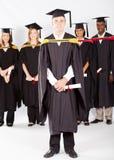 Högskolestudentavläggande av examen Royaltyfria Bilder