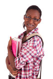Högskolestudentbarnafrikansk amerikan Arkivfoto