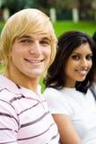 högskolestudenter royaltyfri foto
