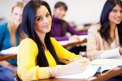Högskolestudenter i klassrum Royaltyfria Foton