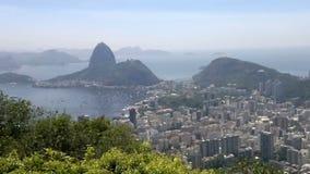 Högstämd panoramautsikt av Rio de Janeiro lager videofilmer