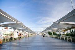 högstämd shanghai för expo 2010 walkway Arkivbilder