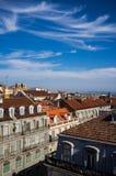 Högstämd sikt av Lissabon Arkivbild