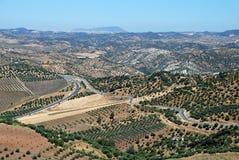 Jordbruks- land, Andalusia, Spanien. arkivbild