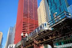 Högstämt drev i Chicago Royaltyfri Bild