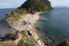 Högst punkt av Isla Gigantes, Filippinerna Arkivbild