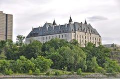 Högsta domstolen av den Kanada sikten från vatten Fotografering för Bildbyråer