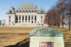 Högsta domstolen av Kanada byggnad Royaltyfri Foto
