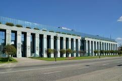 Högsta domstolenbyggnad i Warszawa, Polen Arkivfoton
