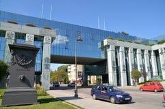 Högsta domstolenbyggnad i Warszawa, Polen Royaltyfri Foto