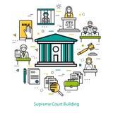 Högsta domstolenbyggnad - runt begrepp Royaltyfri Fotografi