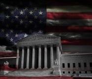 Högsta domstolenflagga fotografering för bildbyråer