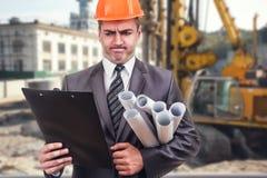 Högsta tekniker på byggnadsplatsen Royaltyfri Bild