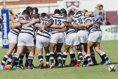Högstadier för lag för rugbyhandling 1st Arkivfoton
