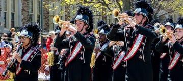 Högstadiummarschmusikband Royaltyfri Bild