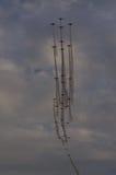 Högt airshowbildande Fotografering för Bildbyråer