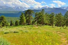 Högt alpint landskap för ursnygg nationalpark för steniga berg, Colorado arkivbild