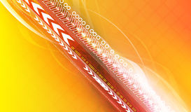 högt begrepp - teknologi Royaltyfria Bilder