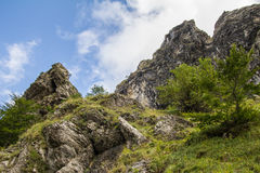 Högt berg i abruzzo Arkivfoton