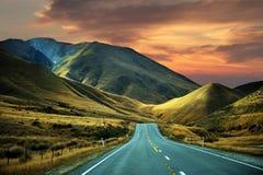 Högt berg, Nya Zeeland Arkivbilder