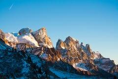 Högt berg till San Martino Arkivbild