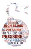 högt blodtryck Arkivbild