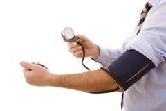 högt blodtryckprov Arkivbilder