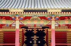 Högt dekorerad Toshogu relikskrin i Nikko, Japan Royaltyfria Bilder