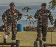 Högt dekorerade SANDF-medlemmar Fotografering för Bildbyråer