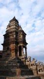 högt kathmandu tempel Arkivbild