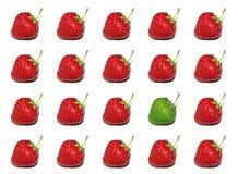 högt key jordgubbetema Arkivbilder