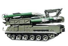 Högt mobilt anti--flygplan missilsystem som kan användas till mycket Arkivbilder