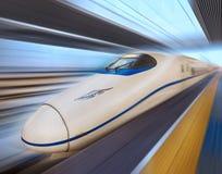 högt modernt hastighetsdrev Arkivfoto