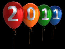 högt nytt res-år för ballonger Royaltyfri Fotografi