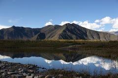 högt platålandskap tibet Royaltyfria Bilder