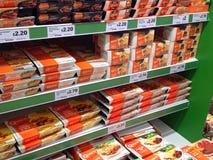 Högt - proteinMycoprotein produkter för vegetarian Arkivfoton