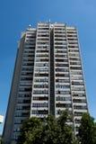Högt residental hus i Szolnok, Ungern Arkivbilder