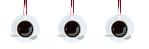 Högt stylised avbilda av kaffe kuper Fotografering för Bildbyråer