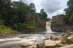 Högt styrkavattenfalllän Durham Arkivbild