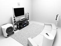 högt system för ljudsignalt slut Royaltyfri Foto