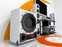 högt system för ljudsignalt slut Arkivfoton