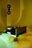 högt system för ljudsignalt slut royaltyfri bild