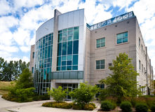 Högt - techkontorsbyggnad Royaltyfri Fotografi