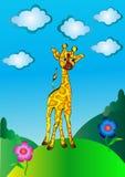 högt trevligt barn för giraff royaltyfri illustrationer
