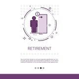 Högt utrymme för affärsPerson Retirement Web Banner With kopia royaltyfri illustrationer