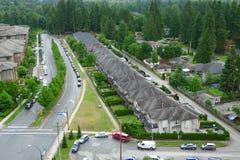 Högt vinkelskott av ett kvarter i Kanada royaltyfri foto